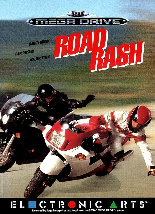 Road Rash - Cover Mega Drive