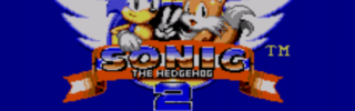 Sonic the Hedgehog 2 - Startbildschirm