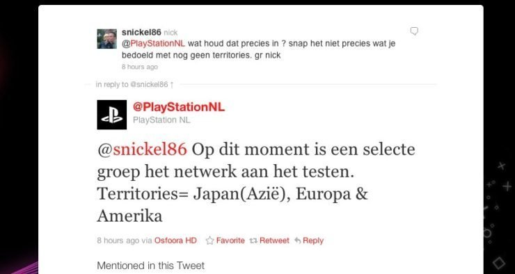 PlayStationNL über Tests im PSN